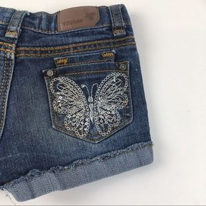 Vigoss Shorts W/ Embroidered/ Sequins Butterflies